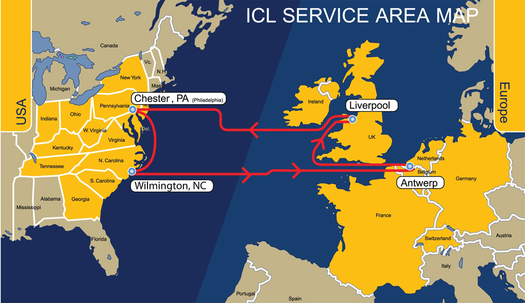 ICL Service Area Map
